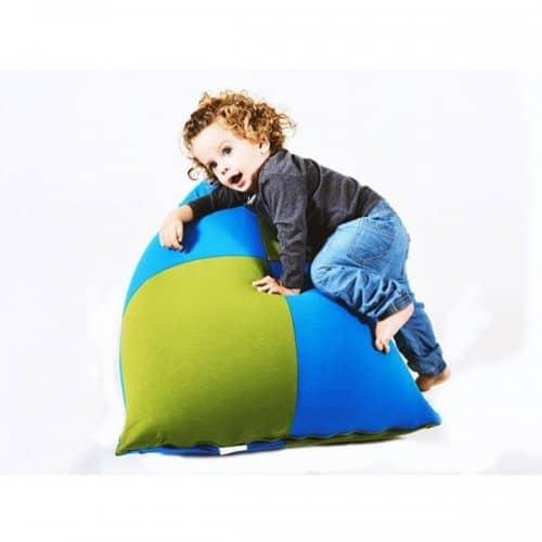 פוף לילדים צבעוני כחול וירוק