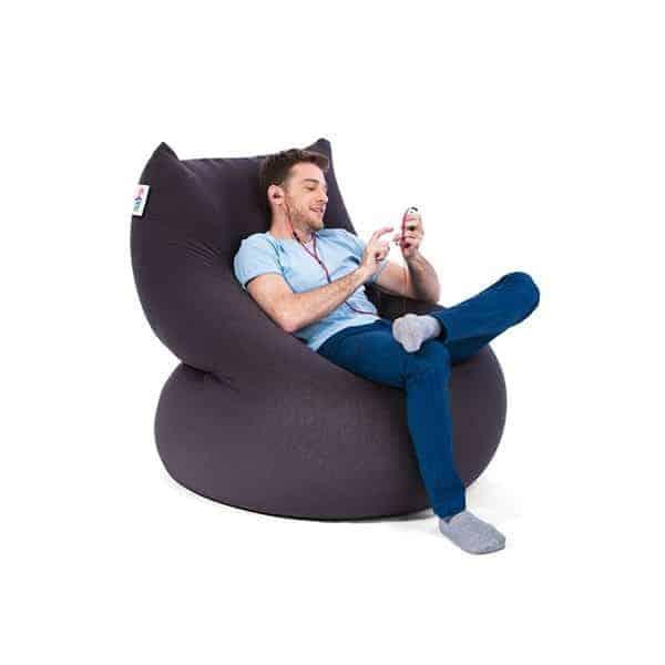 פוף גדול אפור ישיבה | Buyline