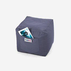 פוף קוביה כחול נייבי | Buyline