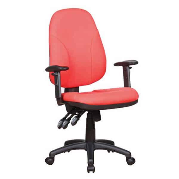 כסא מחשב אורטופדי אדום