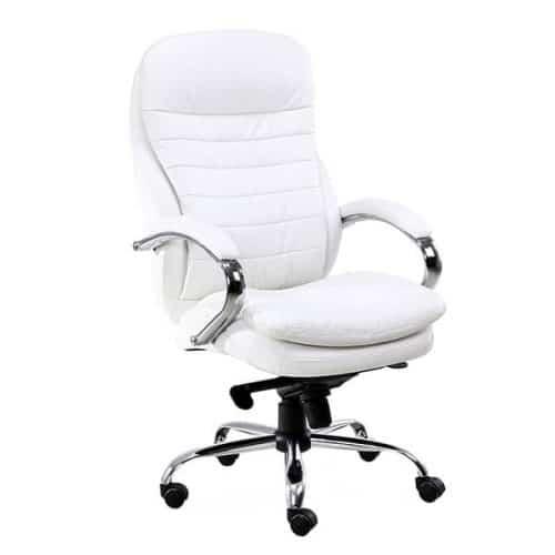 כסא מנהלים אורטופדי לבן